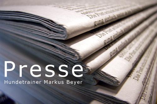 Hundetrainer Berlin - Markus Beyer - Presse